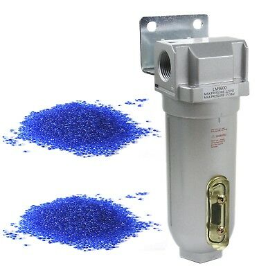 """1"""" Compressed Air In Line Filter Desiccant Dryer Moisture Water Separator New"""