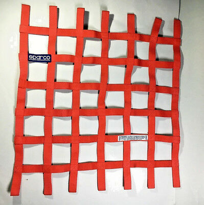 Sparco FIA approved Window safety Net - Red - Racing Car/Rally/Motorsport