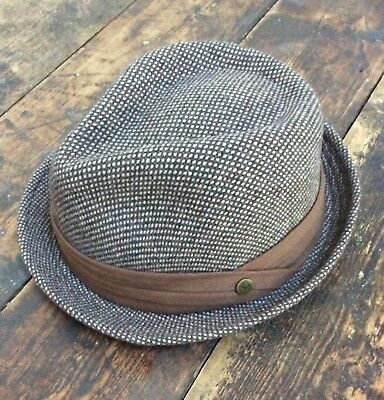 PETER GRIMM Men's Fedora Hat Brown Size Small