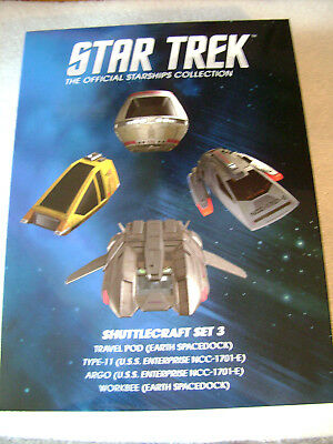 Star Trek Eaglemoss Shuttle Special Set 3 Raumschiffsammlung Starship Collection