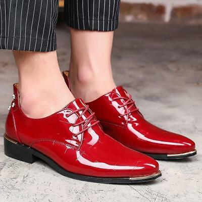 Men Business Formal Patent Leather  Dress  Shoes Lace Up OfficeWedding  28032