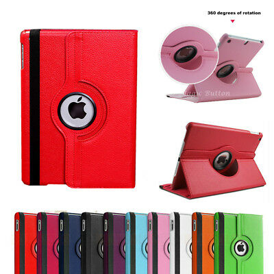 iPad Mini 3 2 1 Case 360 Rotate Smart Leather Heavy Duty Shockproof Cover