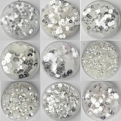 30grams 3-25mm Crystal Transparent Loose Sequins Paillettes Sewing Wedding decor