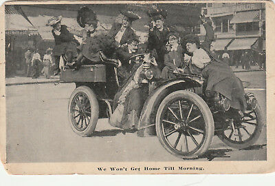 Vintage Postcard Auto Car 1909 Lexington To St Elmo Tn Free Shipping
