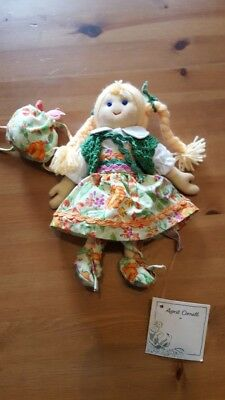 NWT RARE April Cornell Minty Cornelloki 7 inch Cloth Doll
