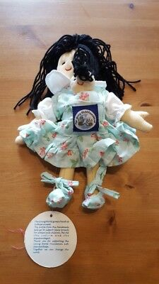 NWT April Cornell The Giving World Foundation Cornelloki 7 inch Cloth Doll