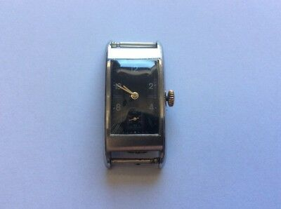 RECORD Wrist Watch Stainless steel Swiss made OBLONG  Case - ART DECO
