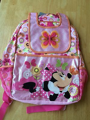 """NWT Disney Store Minnie Mouse Backpack 16"""" School Girls"""