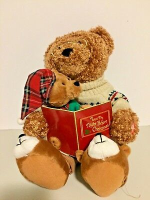 Vintage 2006 Avon Animated 'Twas the Night Before Christmas' Story time Bear