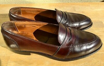 282aed9f7a9 Alden Shell Cordovan 684 Leather Penny Loafers 12.5 D Full Strap Color  8  Brown