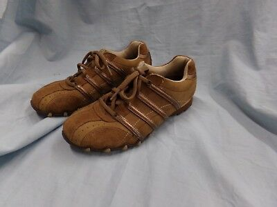 9da2d0368d7d0 Womens Size 7 Skechers Lt Brown Leather Lace Up Tennis Shoes Excellent  Condtion