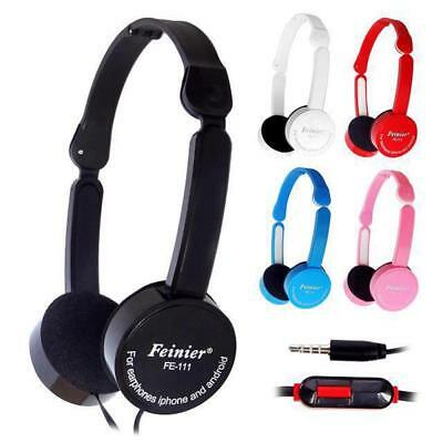 Foldable Gaming Headset Stereo Surround Headphones Wired Travel Bass Earphones