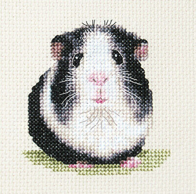 Black + White GUINEA PIG - Complete counted cross stitch kit * Exclusive Design