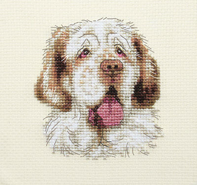 CLUMBER SPANIEL ~ Pup Dog, Full counted cross stitch kit + all materials *Fido