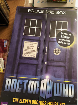 Doctor Who new in box Police Call Box. Great figures in a cool box. Dr. Who