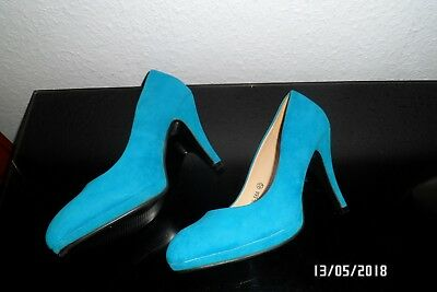 TAMARIS PUMPS SPITZE blau Wildleder optik blau petrol 40