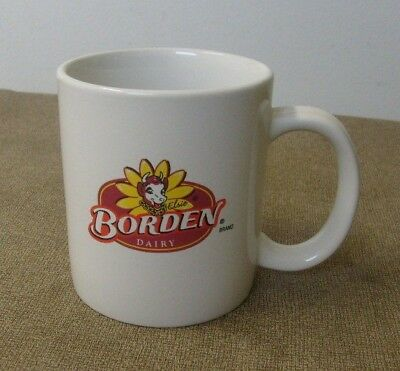 BORDEN Dairy coffee cup/ mug Elsie the Cow logo Borden Brings the Dairy Home