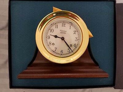 Chelsea Shipstrike Chiming Clock Brass W Mantle New!