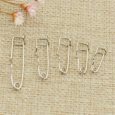 100pcs Curved Safety Pins Brooch Pin For Scarf Skirts Garment Clothing DIY Craft
