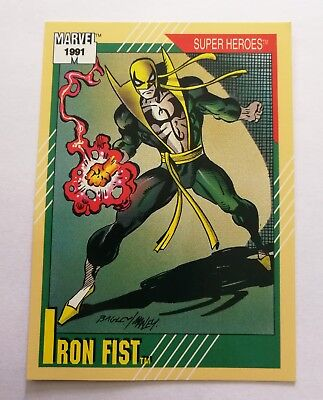 1991 Marvel Universe Series 2 Impel base card Iron Fist #28 VTG Combine Shipping