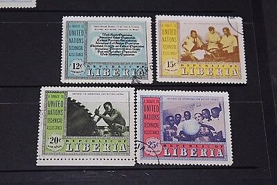 Liberia 1954 Air  Un Tech Advice Set Of 4  Issues  Cto