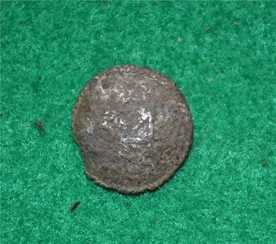 34th Regt British 17.5mm Silvered Officer Button Burgoyne Camp Champlain Valley