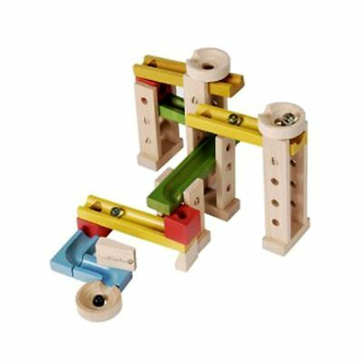 Everearth 42 Piece Holz Kugelbahn 3 Jahre + Traditionell Holz Spielzeug