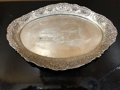 Sterling silver 835 Oval tray