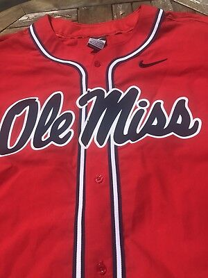 Ole Miss Team Baseball Jersey Official  Team Issued