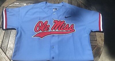 Ole Miss Official Team Baseball Jersey. Official Jersey Without Number Or Name .