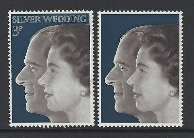 1972 GB QEII Royal Silver Wedding 3p Colour Omitted ERROR Unmounted Mint MNH