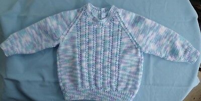 Baby Hand Knitted Jumper, Suit 6 To 9 Month Old (11)
