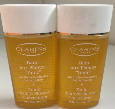 2 x Clarins Tonic Bath & Shower Concentrate With Essential Oils =200ml