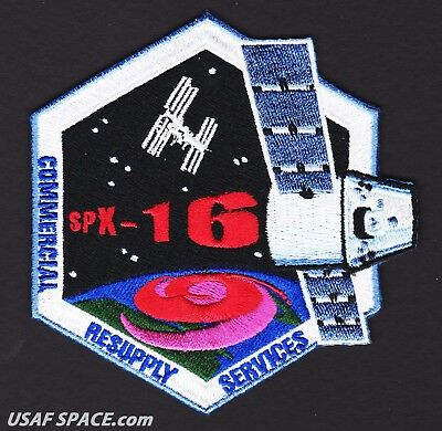 NEW SPX-16 - SPACEX CRS-16 NASA COMMERCIAL ISS RESUPPLY ORIGINAL AB Emblem PATCH