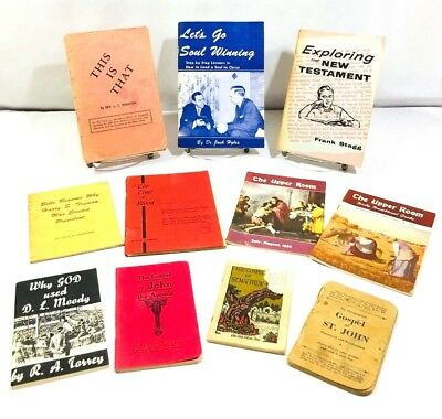 LOT of Antique & Vintage Religious CHRISTIAN Booklets & Pamphlets books