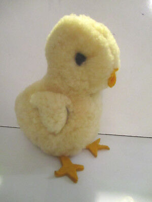 Vintage Woolen Baby Chick with Pompom Eyes Precious!