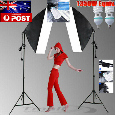 Photo Studio Soft Box Dimmable LED Light Softbox Lighting Stand Vedio Kit-NEWLY