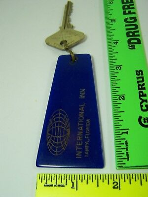 Vintage International Inn Tampa Florida Motel Key Fob & Key Room 412
