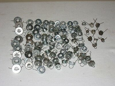 100+ Vintage Christmas Ornament Metal Hangers Tops Caps Assorted Sizes - lot #2