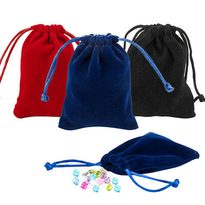 50pc Velvet Jewellery Gift Bags Drawstring Wedding Pouches Party Christmas Bag