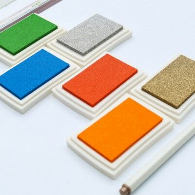 US Large Rubber Stamps Craft Pigment Ink Pad For Paper Wood Fabric Crafts