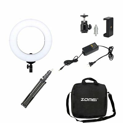 Double Way ZOMEI 14 Inch Dimmable LED Ring Light With 50CM Tripod Stand HM