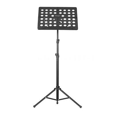 Music Conductor Stand Adjustable Heavy Duty Sheet Tripod Holder Black New H0O1