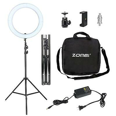 Double Way ZOMEI 14 Inch Dimmable LED Ring Light & Foldable 50CM Tripod Stand BU