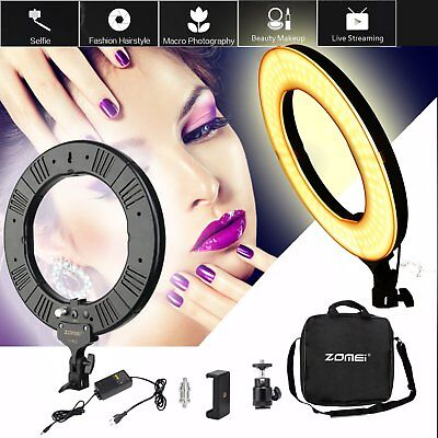 """ZOMEI Dimmable LED Ring Light Photography Photo 18"""" 5500K Photographic Lamp OY"""
