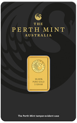 Perth Mint Australia 5 gram Gold Bar - Perth Mint - 99.99 Fine BULLION