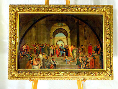"""""""School of Athens"""" after Raphael, late 18th C. Italian Oil on Canvas Unsigned"""