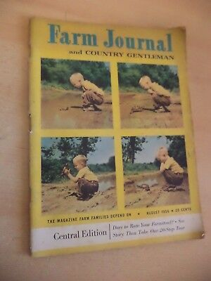 FARM JOURNAL & COUNTRY GENT old vintage 1950s AMERICAN FARMING MAGAZINE AUG 1956