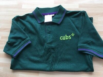 Official Scout Cubs T-Shirt Polo Shirt Boys Girls size 28 Fab Condition
