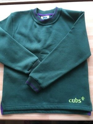 Official Cubs Scouts Uniform Sweatshirt Top Size 28 Age 8 Years Fab Condition